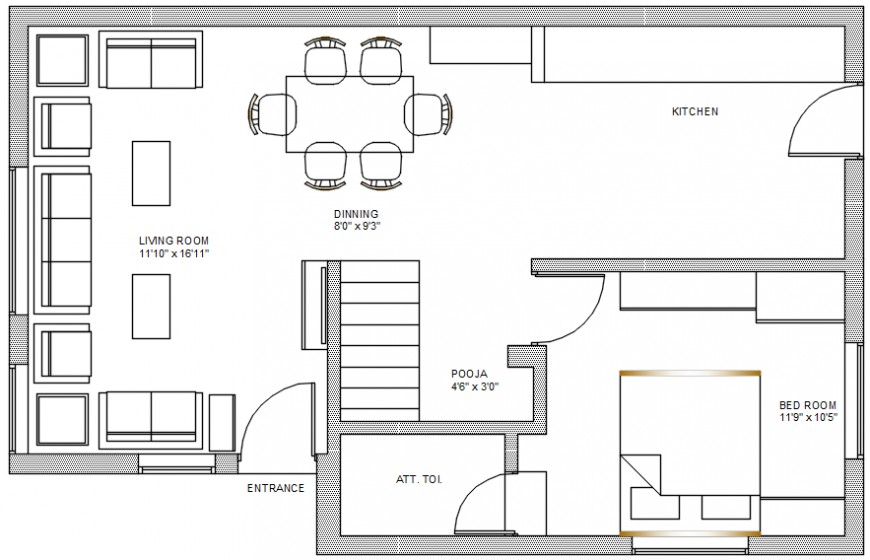 architectural plan of modern house
