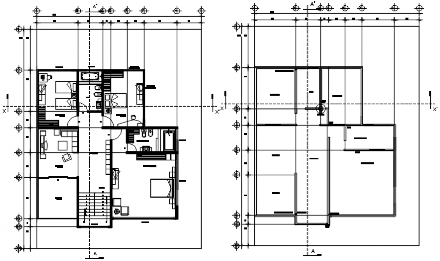 architectural plan top view