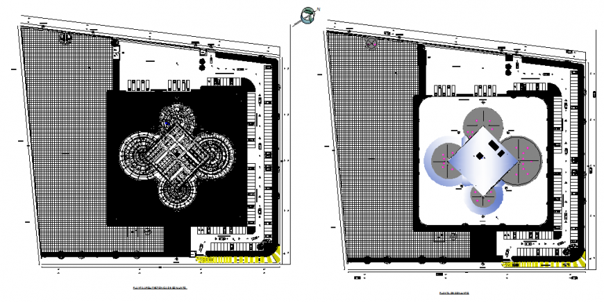 Architectural plant set and plant assembly details of market cad drawing details dwg file