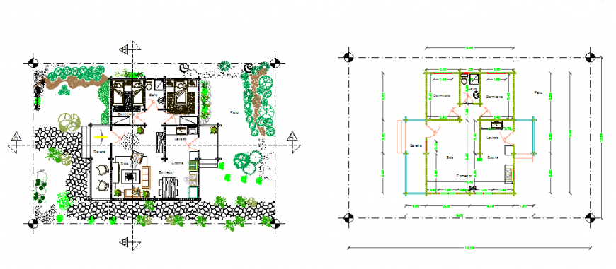 Architectural proposed layout plan of small layout plan design drawing