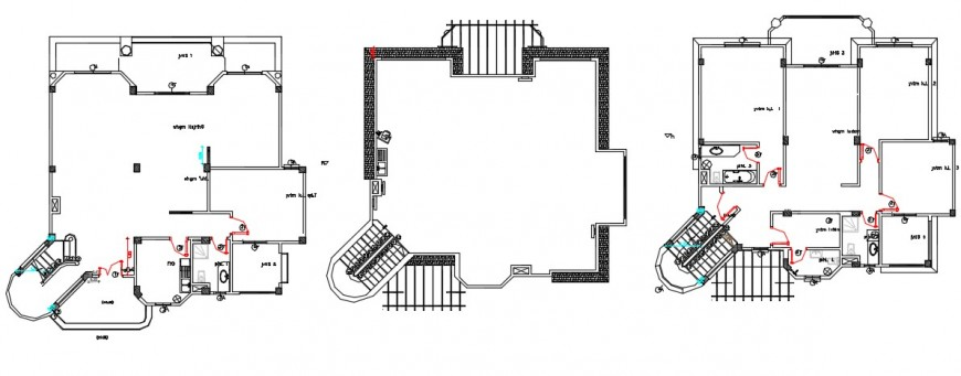 Architectural top view layout plan, terrace detailing dwg file