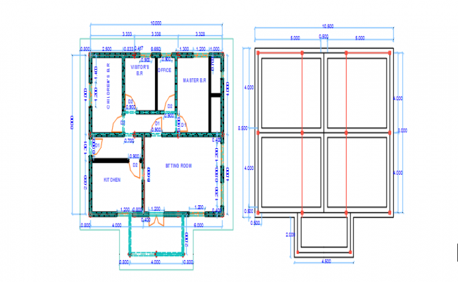 architecture of a house dwg file
