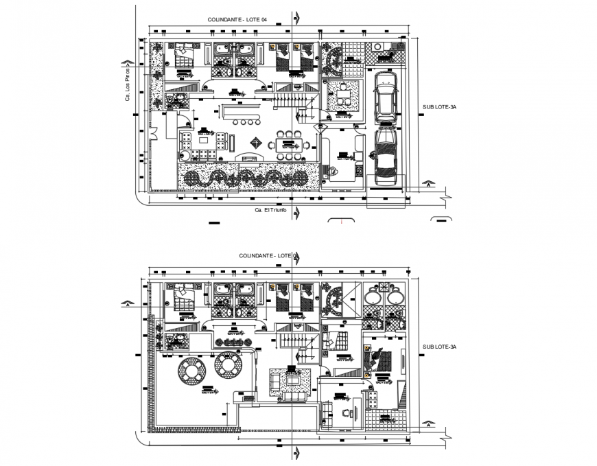 Architecture floor layout plan details of residential house dwg file