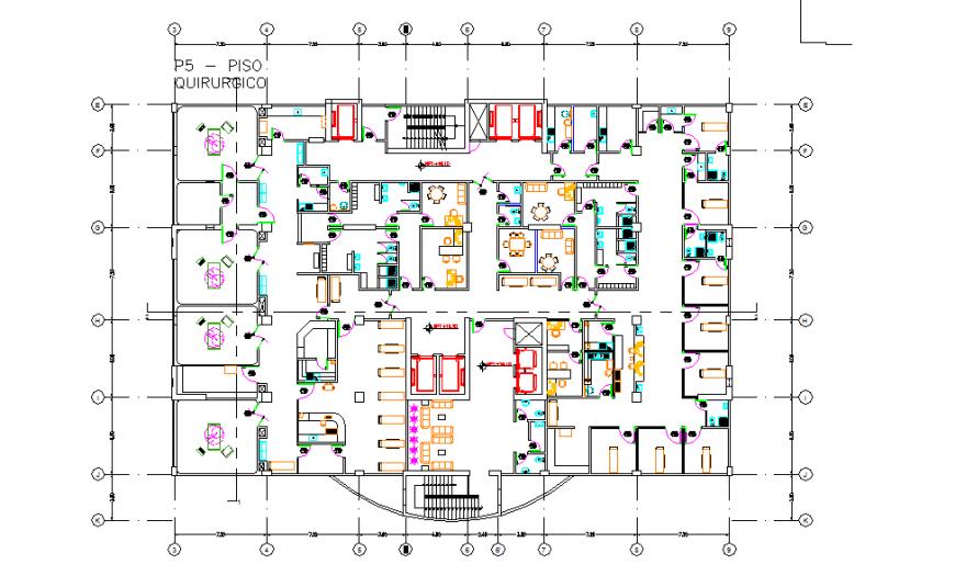 Architecture Hospital Plan & Furniture Detail