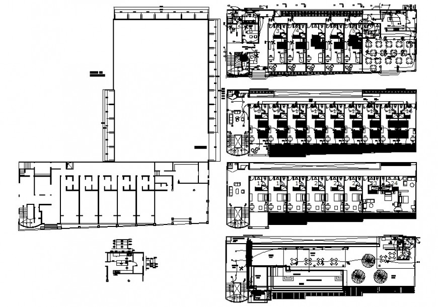 Architecture hotel project cad file