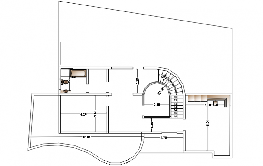 Architecture layout plan and structure details of modern villa dwg file