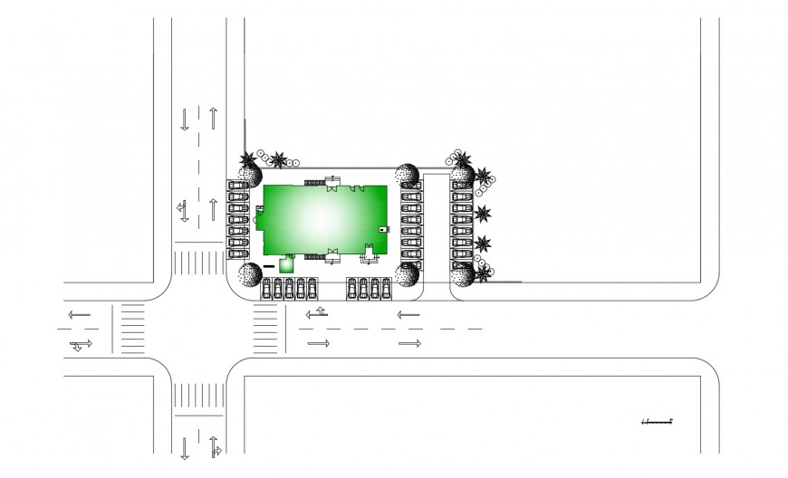 Architecture layout plan details for religious mosque dwg file