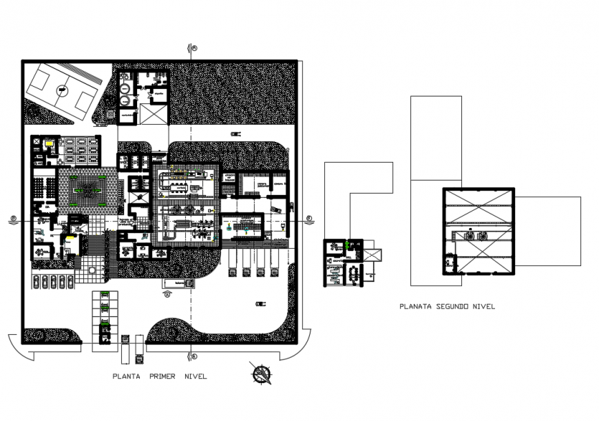 Architecture layout plan details of furgos processing plant dwg file