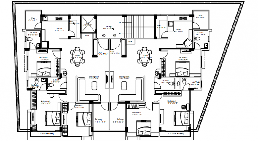 Architecture layout plan details of house of apartment building dwg file