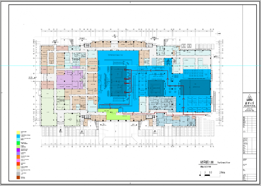 Architecture layout plan details of office building psd file