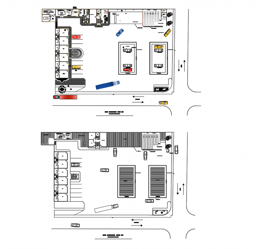 Architecture layout plan drawing details for industrial gas installation building dwg file
