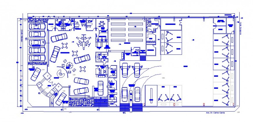 Architecture layout plan drawing details of admin office building dwg file