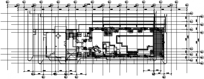 Architecture layout plan drawing details of club house dwg file