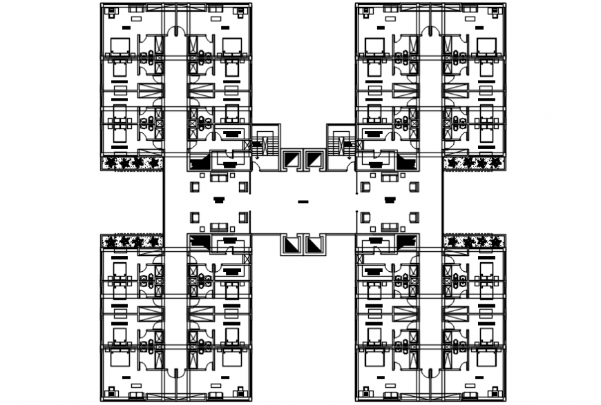 Architecture layout plan drawing details of hotel with convention center dwg file
