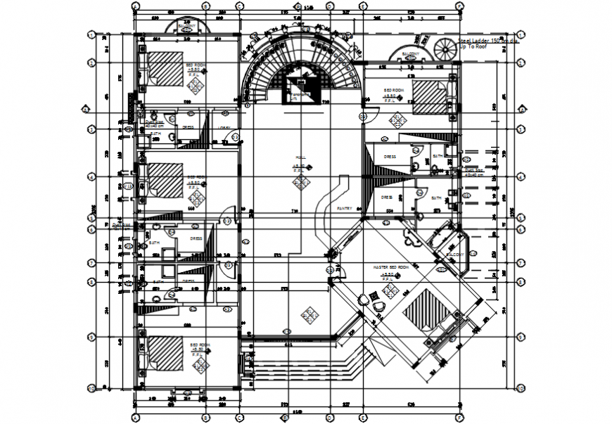 Architecture layout plan of multifamily project