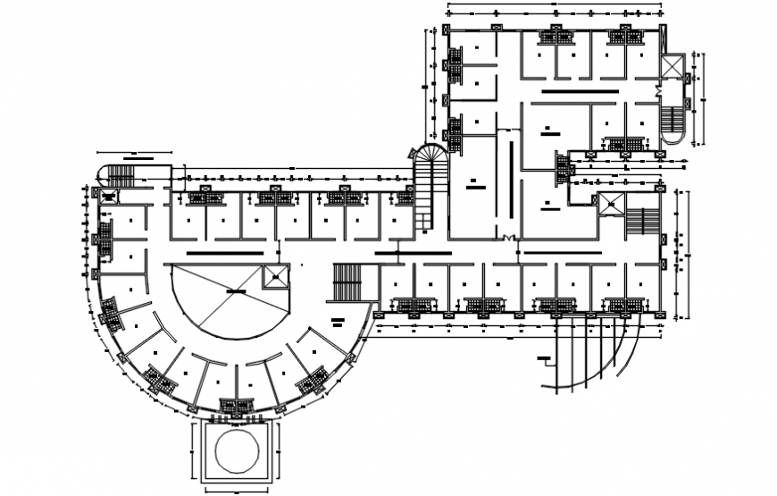 Architecture plan details of a site