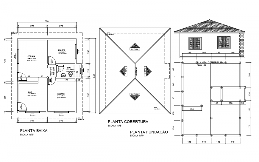 Architecture plan LAy-out design in Autocad drawing