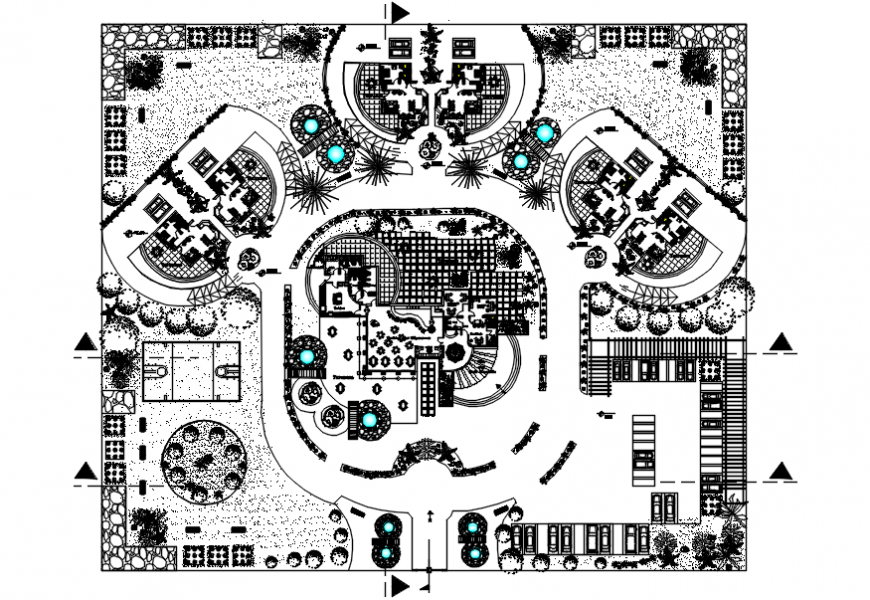 Architecture resort drawing cad file