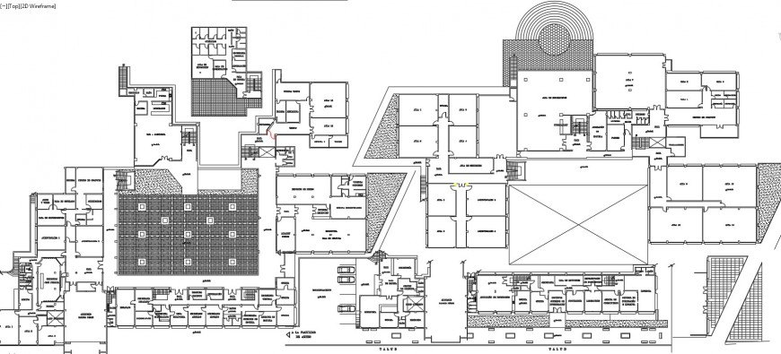 Architecture school floor distribution plan cad drawing details dwg file