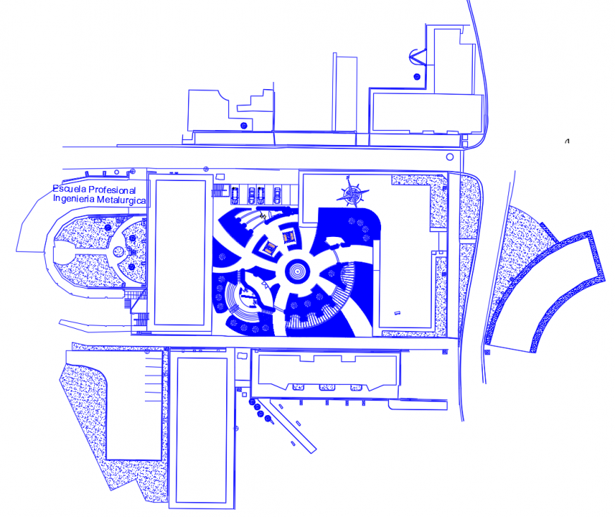 Area detail 2d view layout plan in autocad format