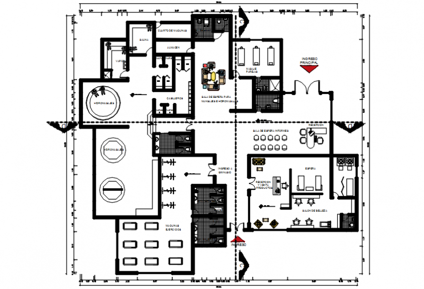 Area office architecture layout plan with furniture cad drawing details dwg file