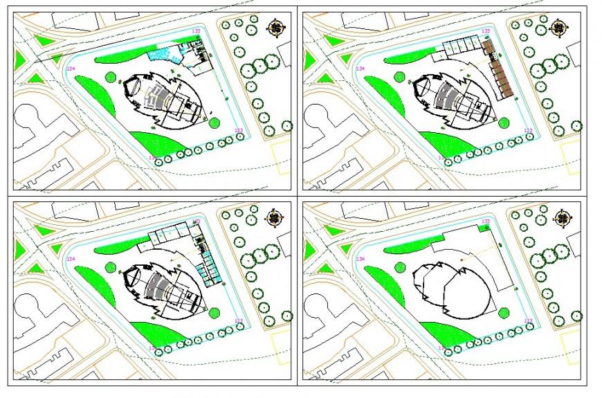 Area plan detail 2d view CAD block autocad file