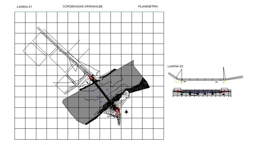 Area site plan detail 2d view layout autocad file