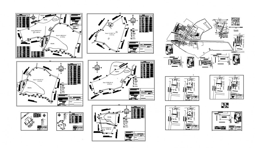 Area structure and plan details of industrial plant cad drawing details dwg file