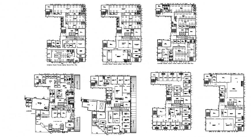 Armenian Church trauma center layout plan drawing in dwg AutoCAD file.