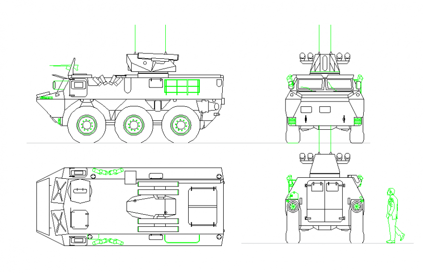 Armored Personnel Carrier Drawing detail