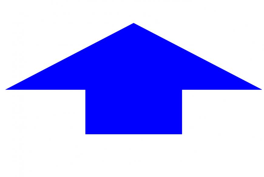 Arrow logo and symbol block in auto cad
