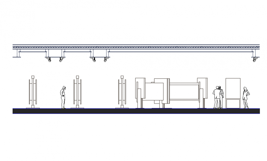 Art Gallery Architecture Elevation design