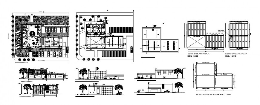 Art gallery museum elevation, section, floor plan and auto-cad drawing details dwg file