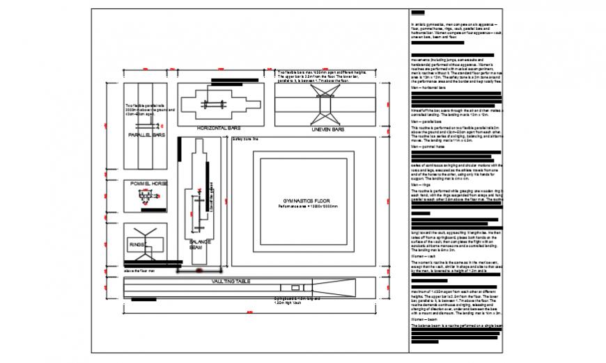 Sports Center Elevation Section Floor Plan Cad Drawing Details Dwg Cadbull