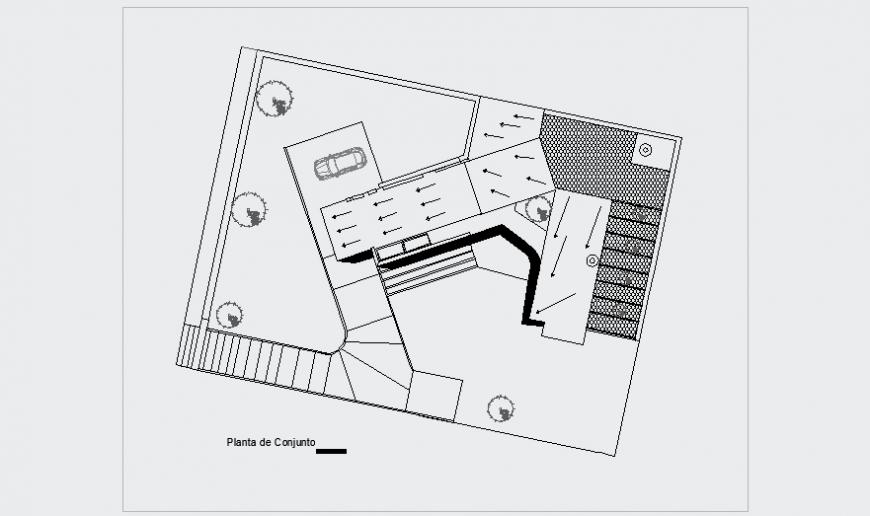 Assembly plan design drawing for modern house design