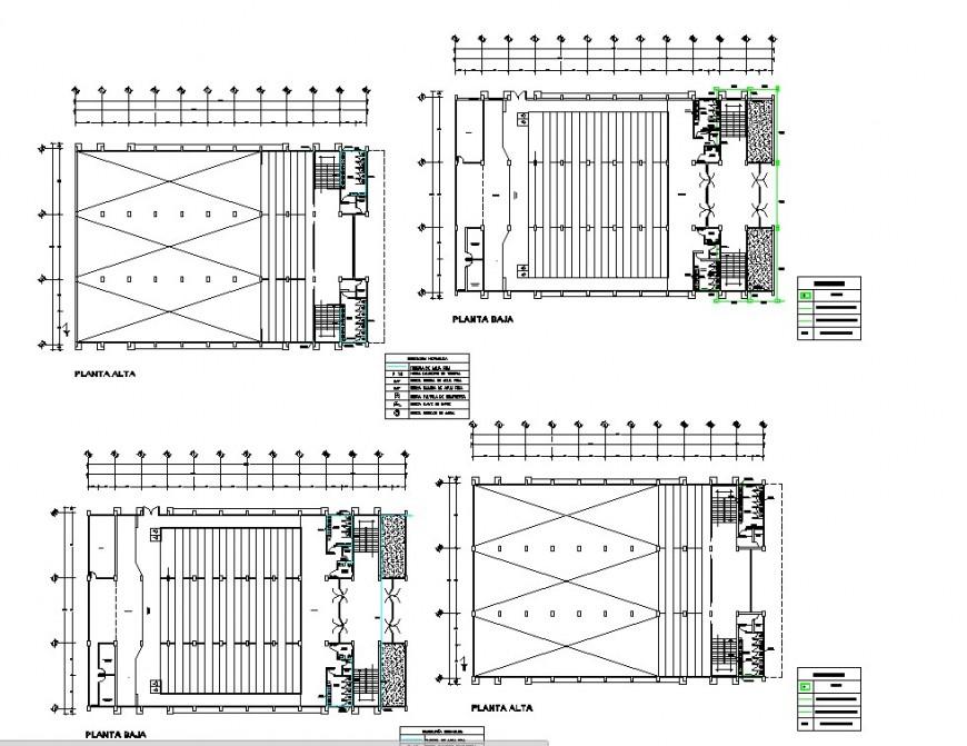 Auditorium building plan detail 2d view layout file in autocad format