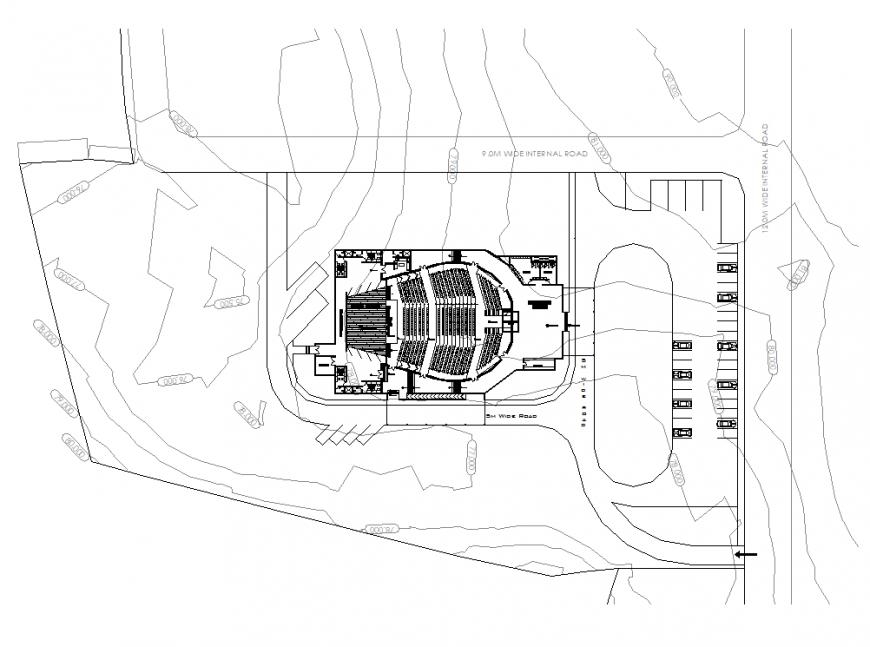 Auditorium planning detail autocad file