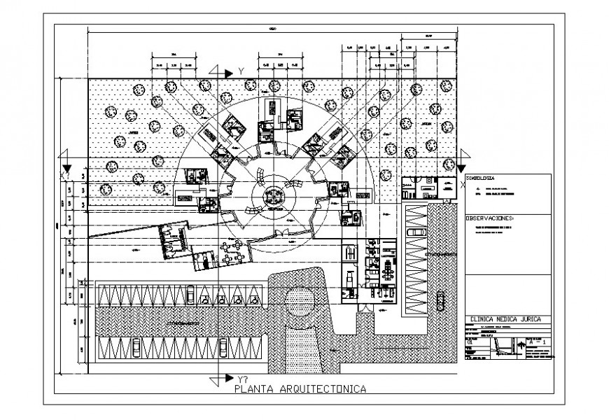Auto cad file of hospital clinic building plan