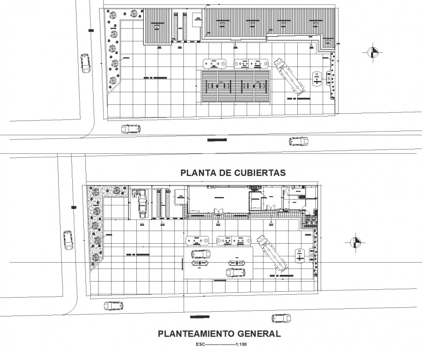 Auto service station planning layout file