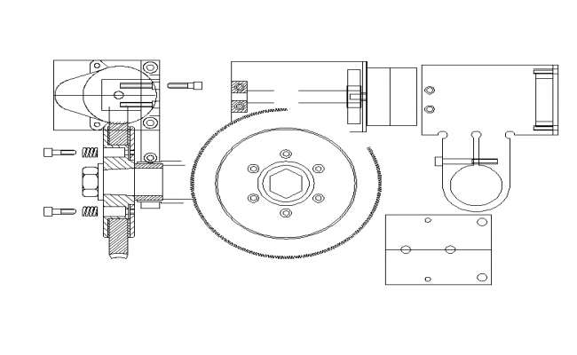 autocad mechanical part drawings