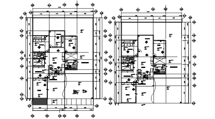 Autocad drawing file of working drawings of a residential house