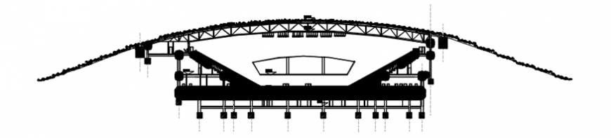 Autocad drawing of basketball stadium section