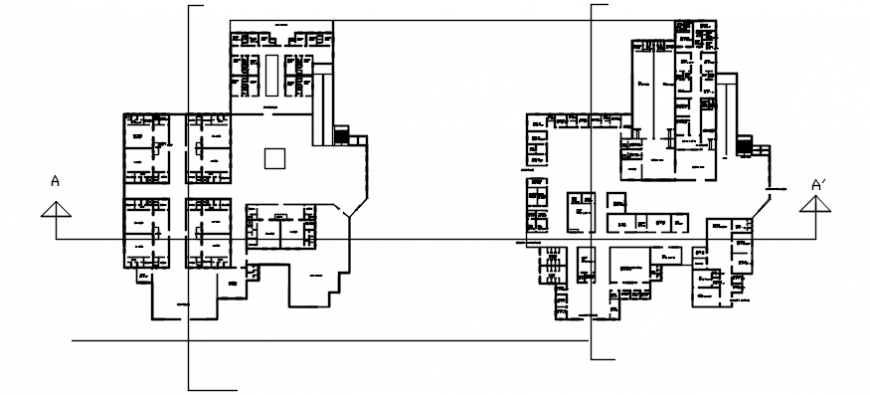 Autocad drawing of hospital floor plans