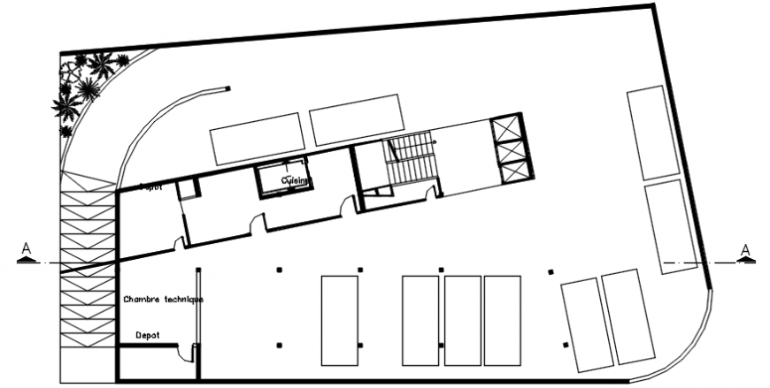 Autocad drawing of hotel basement plan