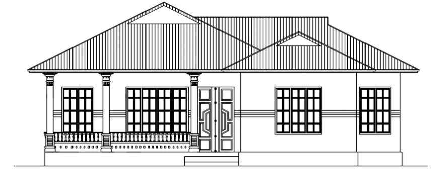 Autocad drawing of house elevation