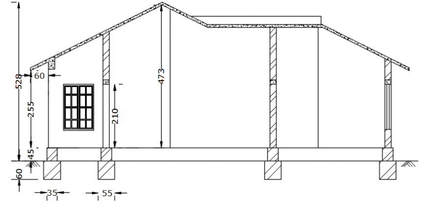 Autocad drawing of house section