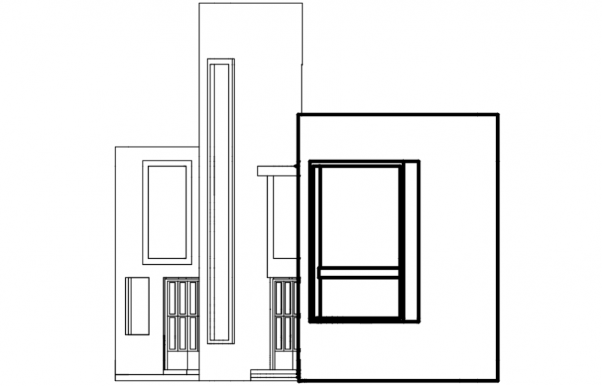 Autocad drawing of organic house elevation