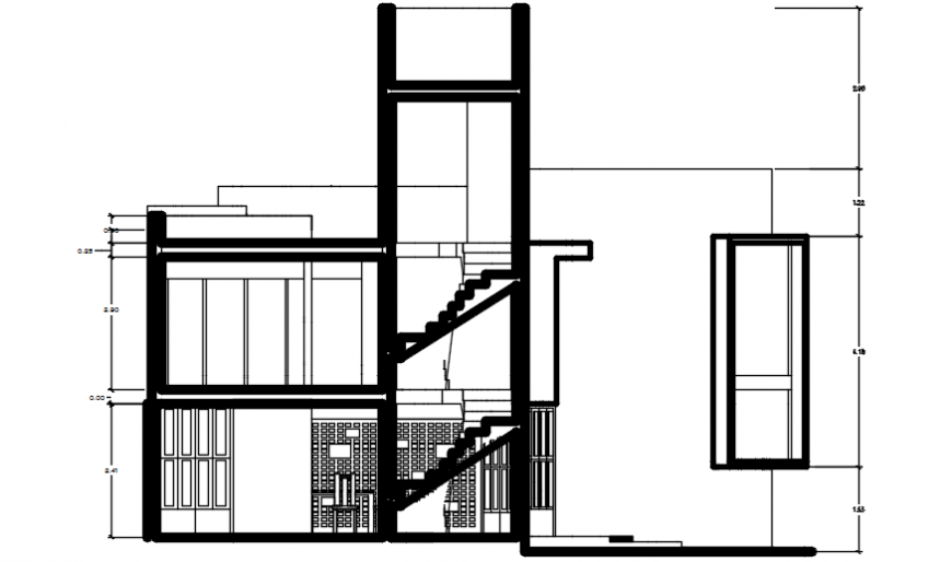 Autocad drawing of organic house section