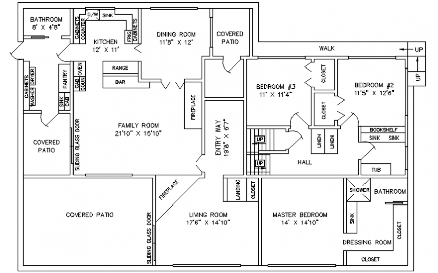 AutoCAD Drawing of Residential layout plan