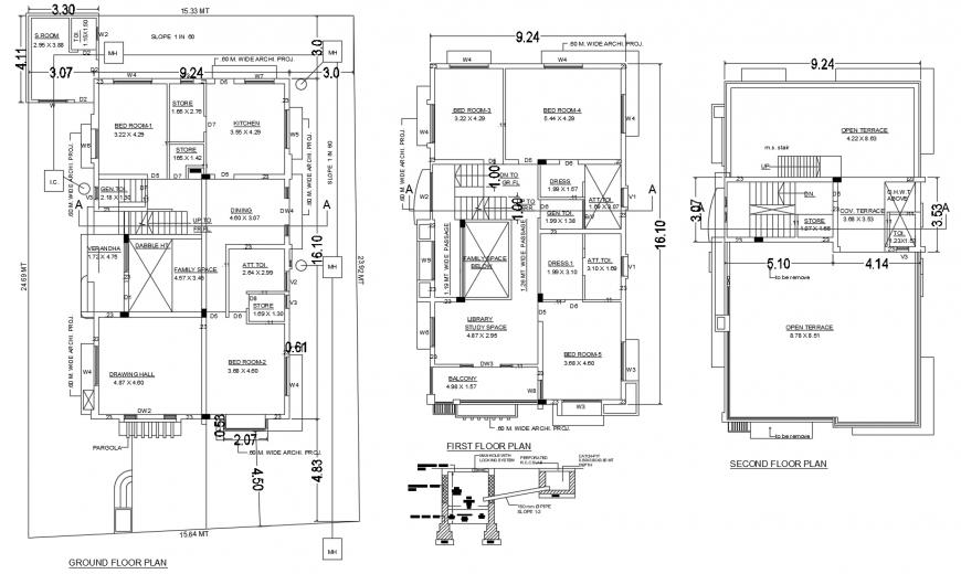 Autocad file of 2d house design AutoCAD file